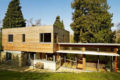 Self build with a flat roof