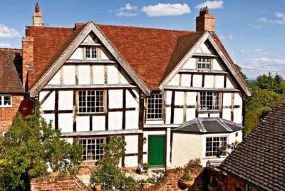 black-and-white-timber-frame-house