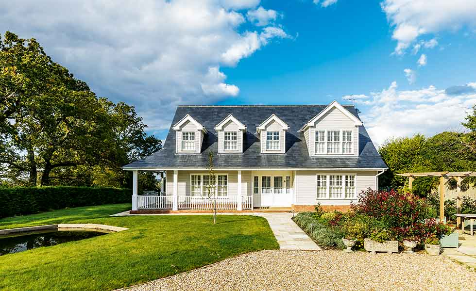 A New England-style self build in the south east