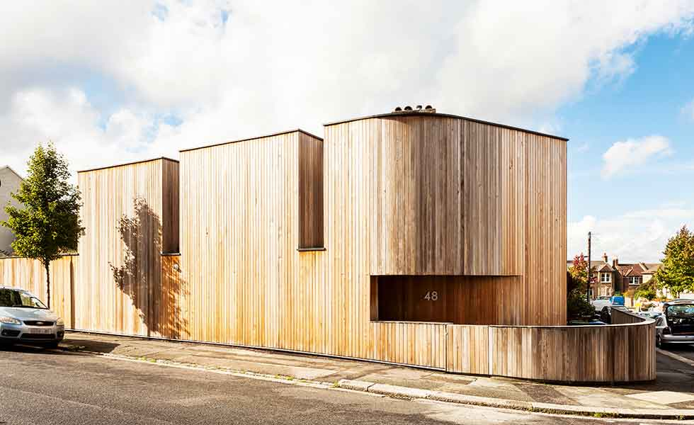 A striking timber clad self build in London
