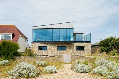 This self build on the south east coast has been designed to sit within its context
