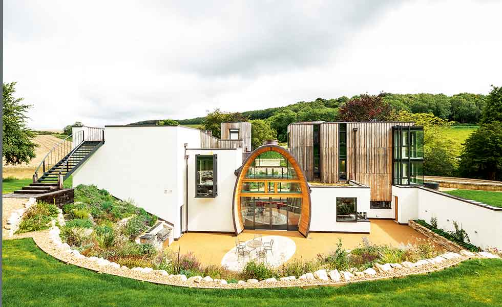 A stunning contemporary home with a barrel centre on the Hampshire/Sussex border