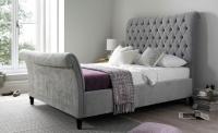 time4sleep Silver Sleigh Bed
