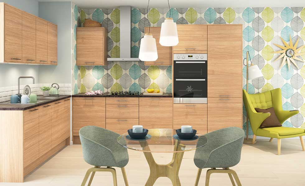 The Vienna Oak kitchen from Magnet Trade