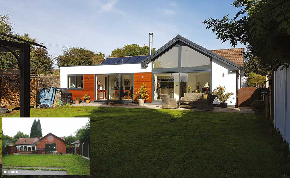 This bungalow has undergone a modern remodel