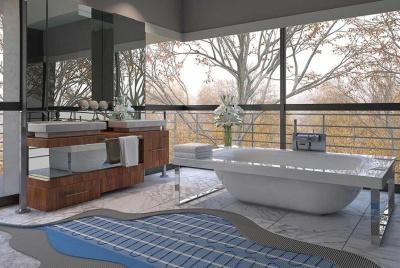 Purely Electrique mesh mat bathroom