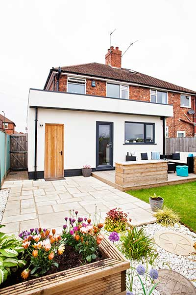 Thanks to a new kitchen extension, this formerly cramped 1930s semi-detached home now offers the family with much-needed additional space
