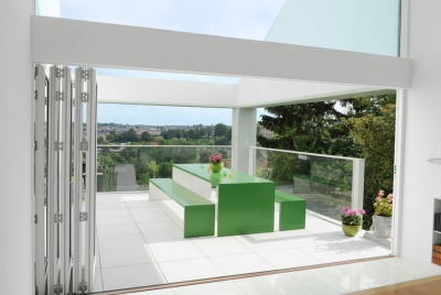 livingwood timber door bifold roof terrace