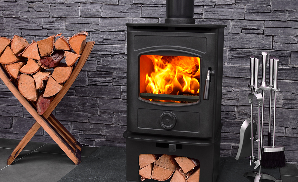 Docherty Graphite multi-fuel stove