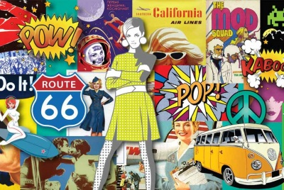 Sputnik pop art collage