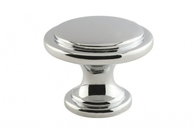 Touchpoint Rim cabinet knob in polished chrome