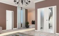 internal doors with chandelier