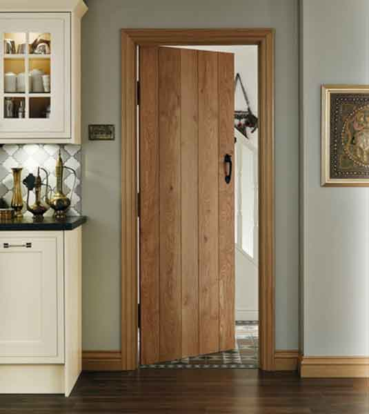 This oak ledged door is from Howdens Joinery