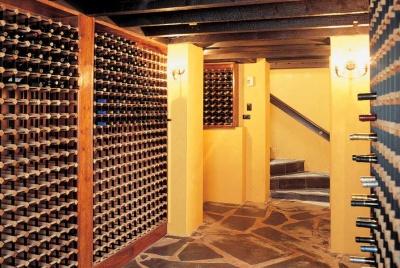 wine corner cellar wall