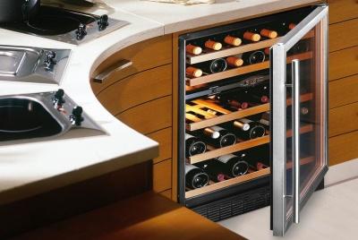 wine corner cabinet curved