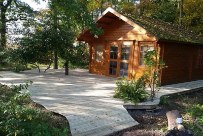 TDCA Gripsure log cabin