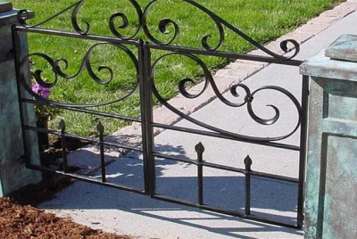 Unique metal fabrications gate