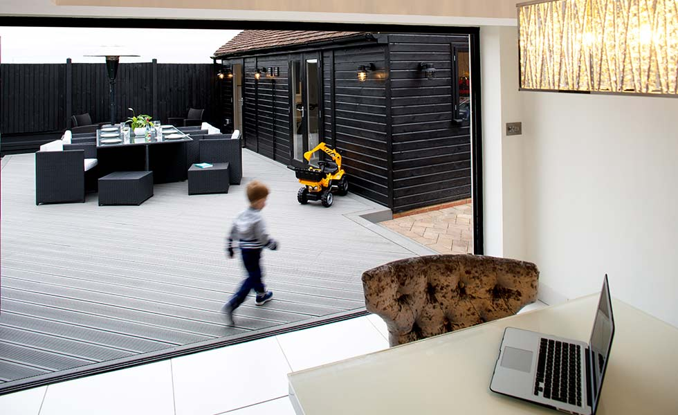 SmartBoard wood plastic composite decking pebble grey