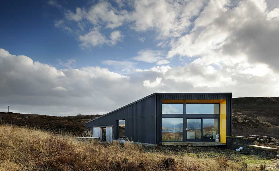 This bungalow in Scotland is a far cry from the stereotypical single storey home many imagine
