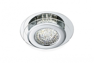 azad lighting 1 light Flush light in Polished Chrome with 12w LED