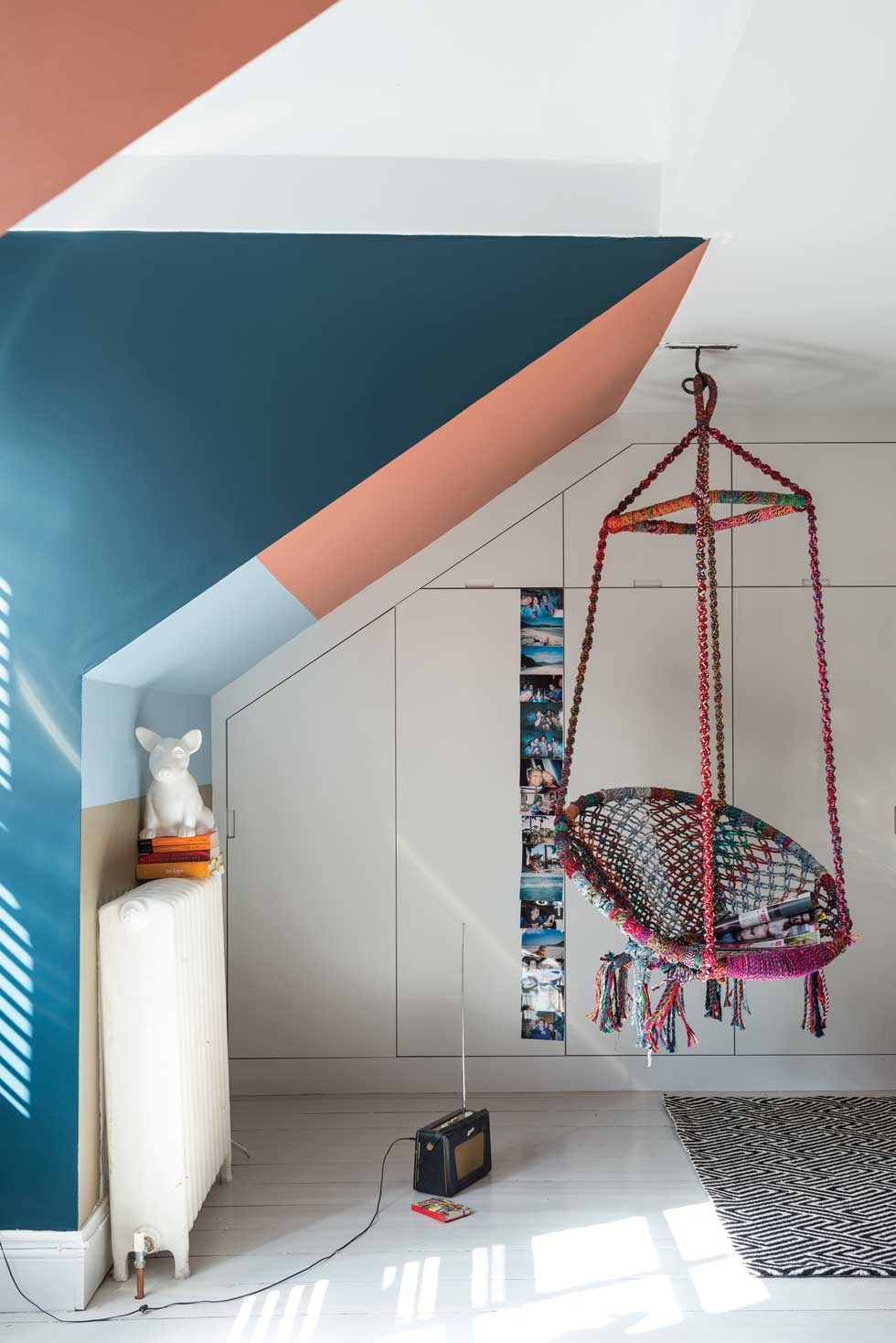 children's playroom with paint colours from Farrow and Ball