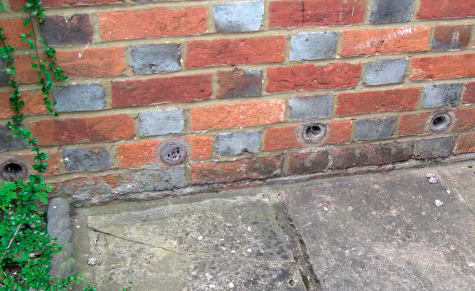 Ceramic tube damp treatments on a period home