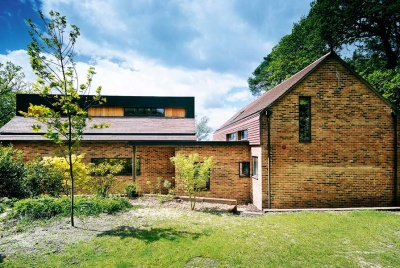 brick and cladding self build in the New Forest