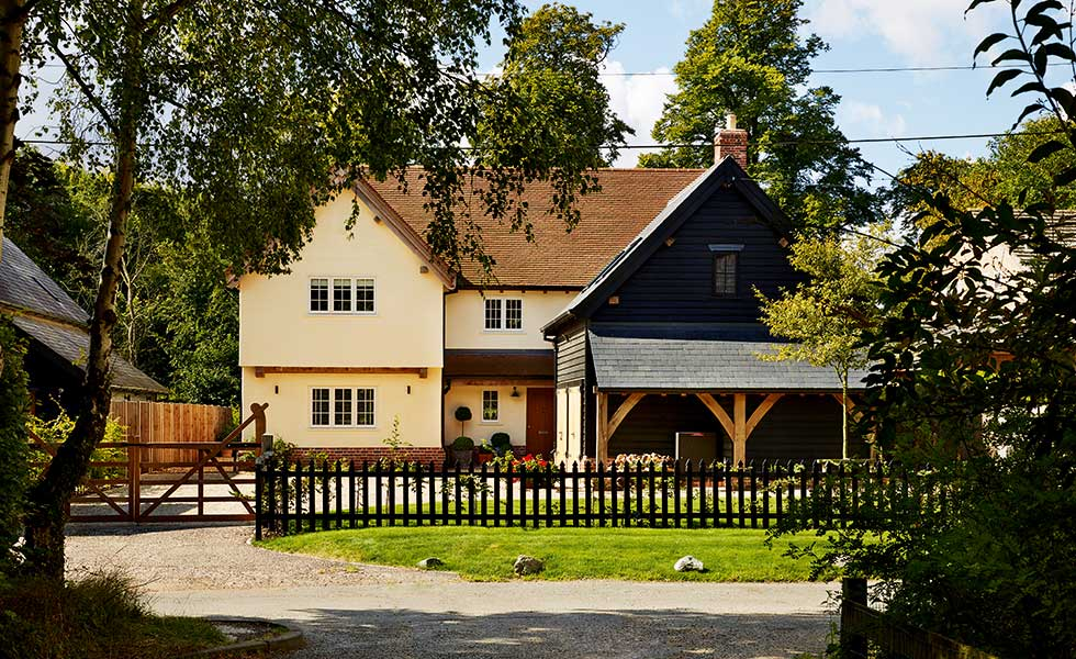 Period style timber frame home in a conservation area