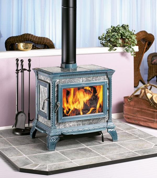 Heritage soapstone-clad woodburning stove