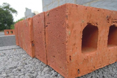 Northcot bricks for the lower wall