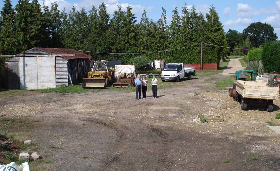 Homeowners on brownfield site