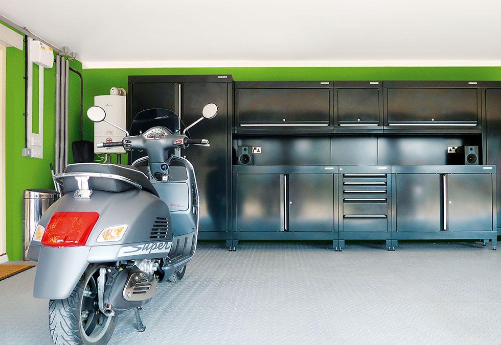 Built-in storage in garage