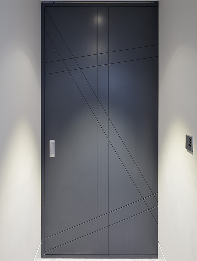grey contemporary internal door
