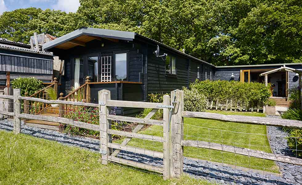The log cabin sits on the family's farmland which has been in the family for three generations