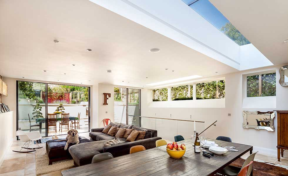 open plan Victorian home with extension