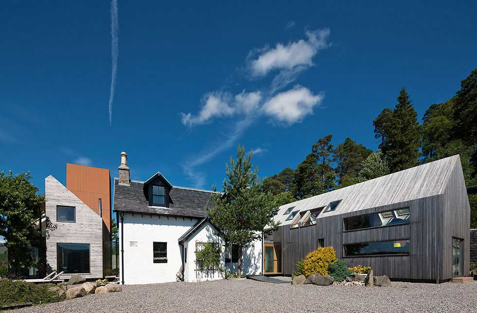 exterior of cottage extension contemporary