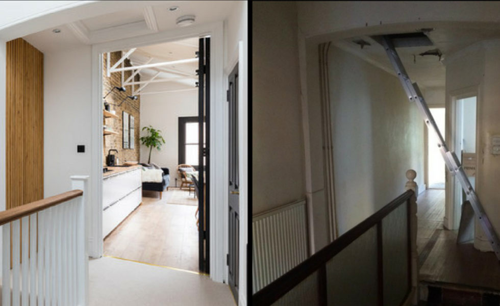 Renovation Before and After - Buildup London