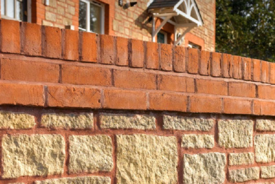 Bradstone walling brick wall top