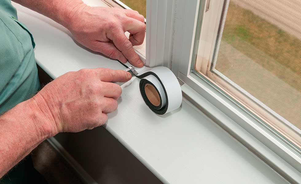 draughtproofing a window