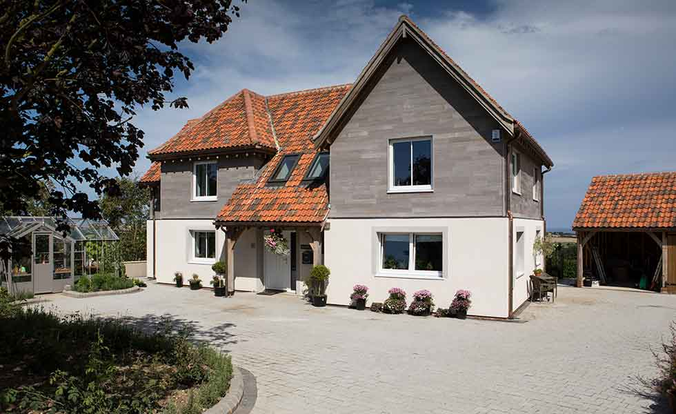 UK's first oak frame Passivhaus