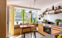 space saving kitchen in a compact energy efficient home