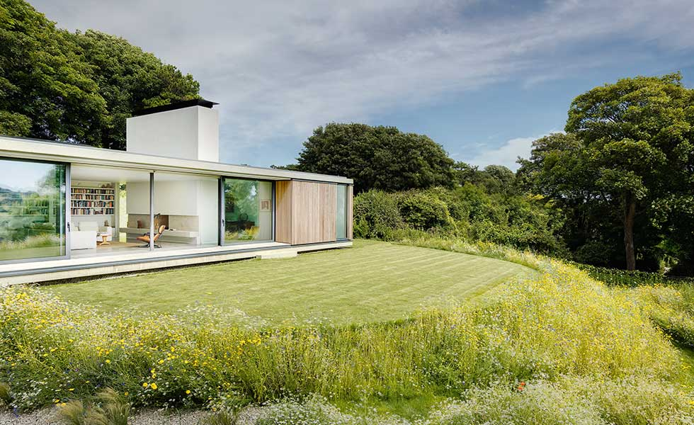 simple landscaping around a stunning contemporary single storey home