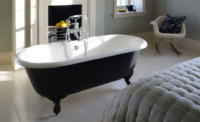 cast iron bedroom bath
