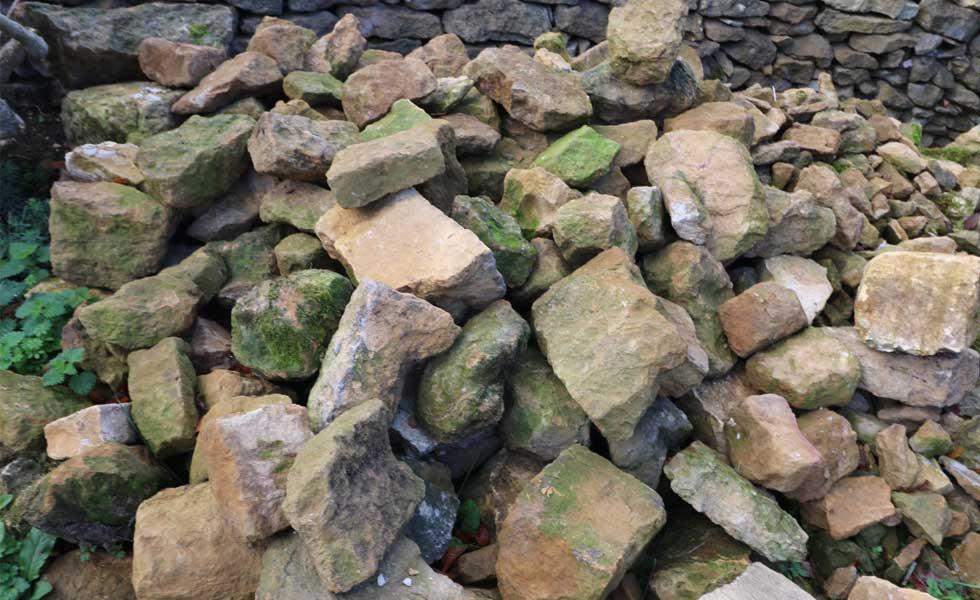 local materials for wall repair