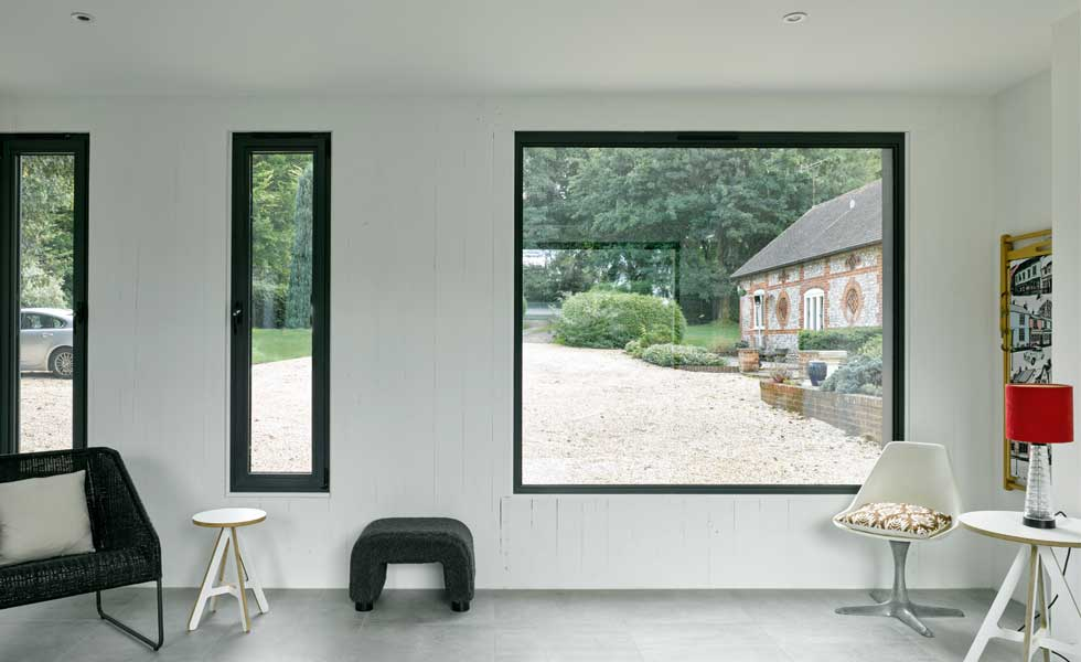 glazing and exposed CLT panels