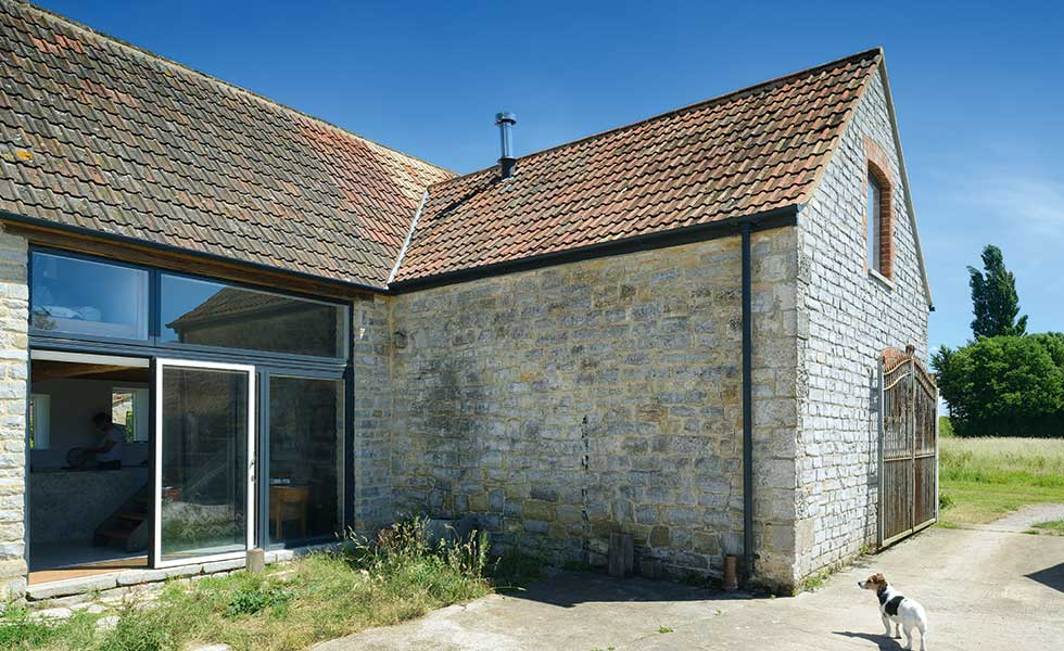 Barn conversion with bi-folds
