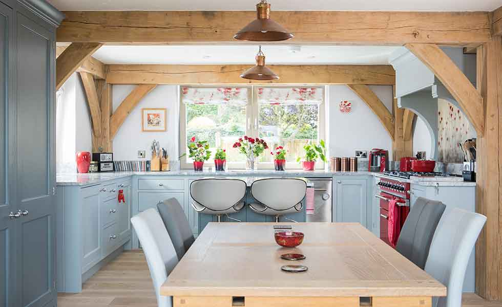 This Yorkshire Passivhaus features a bright open plan kitchen