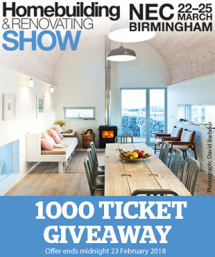 Get your free tickets to the HOmebuilding & Renovating Show