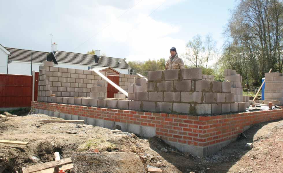 On site blockwork and brick