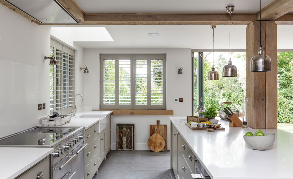 The inframe deVOL kitchen was paired with an independently-sourced worktop to keep costs down